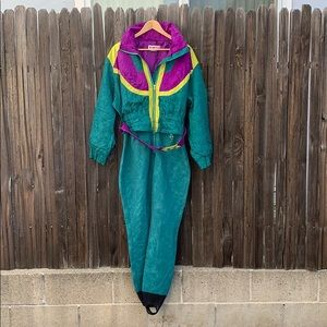 Vintage Obermeyer Rocket Ski Suit Retro Womens 12